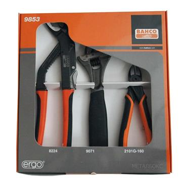Bahco 9853 3 Piece Alloy Steel Plier and Wrench Set