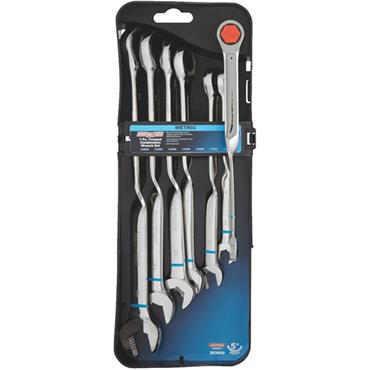 Channellock 303009 7 Piece Metric Twist Ratchet Combination Set