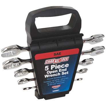 Channellock 346861 5 Piece Imperial Open-End Wrench Set