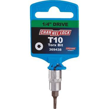 """Channellock Torx Bit 1/4"""" Drive Socket"""