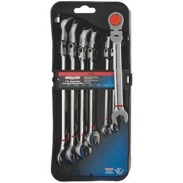 Channellock 316377 7 Piece Imperial Flex Head Ratchet Combination Wrench Set