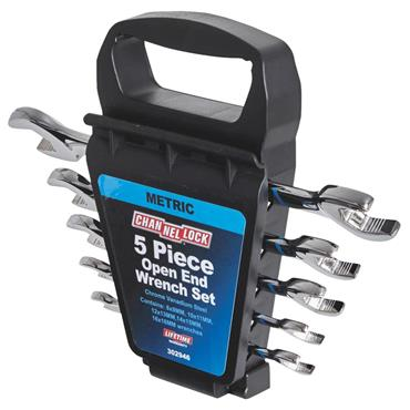 Channellock 302946 5 Piece Metric Open End Wrench Set