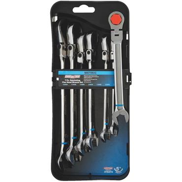 Channellock 316474 7 Piece Metric Flex Head Ratchet Combination Wrench Set