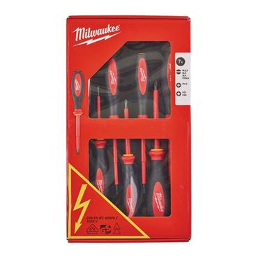 Milwaukee 4932464067 VDE 7 Piece Mixed Screwdriver Set