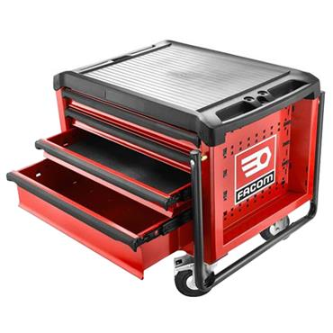 Facom ROLL.CR4M3 4-Drawer Red Roller Mobile Chest