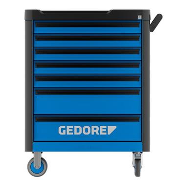 Gedore WHL-L7-TS-147 7-Drawer Blue 147 Piece Tool Assortment Trolley