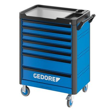 Gedore WSL-L-TS-308 7-Drawer Blue 308 Piece Tool Assortment Trolley