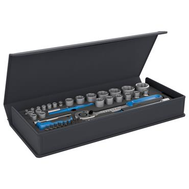 "Gedore TC 19-20-MU-10 52 Piece 1/2"" and 1/4"" Socket Set"