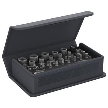"Gedore TC 666-MU-20 35 Piece Metric 1/4"" Drive Bit Socket Set"