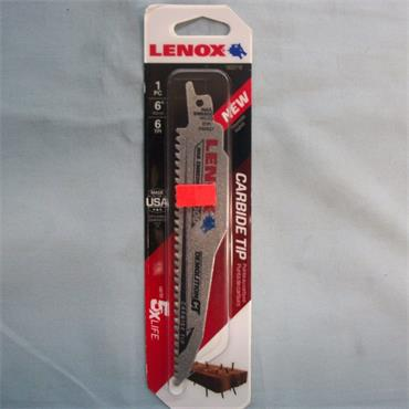Lenox Demolition Carbide Tipped Reciprocating Saw Blade