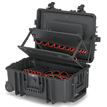 Knipex 00 21 37 LE Robust 45 Integrated Rollers and Telescopic Handle Empty Tool Case