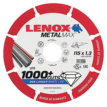 Lenox 2030865 115 x 1.3mm Metalmax Cut-Off Wheel