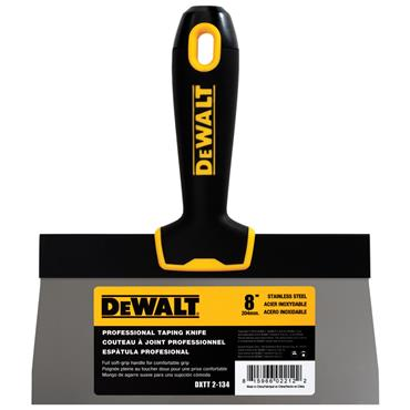 DeWALT 2-13 Stainless Steel Taping Knife with Soft Grip Handle