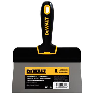 DeWALT 2-19 Stainless Steel Big Back Taping Knife with Soft Grip Handle