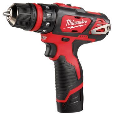 Milwaukee M12 BDDXKIT-202C 12 Volt 4-in-1 Cordless Drill Driver Kit, 2 x 2.0Ah Batteries