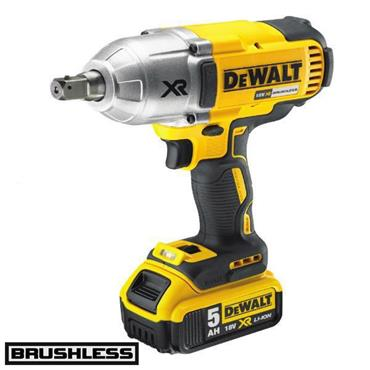 "DeWALT DCF899P2 18 Volt Brushless High 1/2"" Torque Wrench, 2 x 5.0Ah Batteries"
