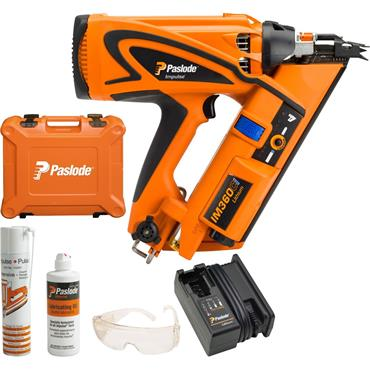 Paslode IM360Ci 7.4 Volt Lithium Gas Framing Nailer, 1 x 1.25Ah Batteries
