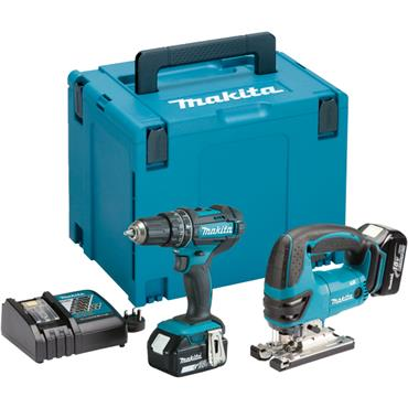 Makita DLX2134MJ LXT 18 Volt Cordless Twin Kit, 2 x 4.0Ah Batteries