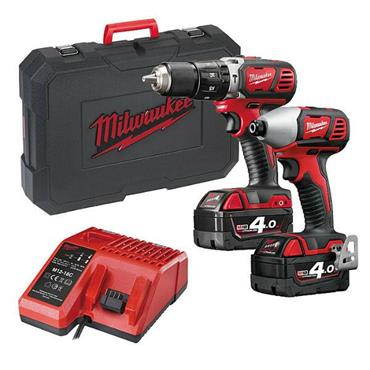 Milwaukee M18BPP2C-402C 2 Piece 18 Volt Heavy-Duty Twin Pack, 2 x 4.0 Ah Batteries