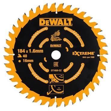 DeWALT 184 x 16 x 40T, Precuision Trim Mitre Saw Blade - DT1668-QZ