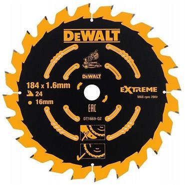 DeWALT 184 x 16 x 24T, Precuision Trim Mitre Saw Blade - DT1669-QZ