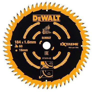 DeWALT 184 x 16 x 60T, Precuision Trim Mitre Saw Blade - DT1670-QZ