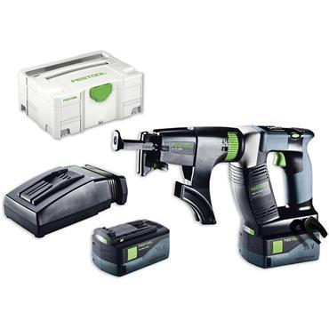 Festool DWC 18-4500 18 Volt Cordless Drywall Screwdriver, 1 x 5.2Ah Batteries