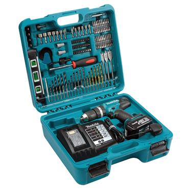 Makita DHP453FX12 18 Volt Lithium-Ion Combi Drill with 101 Piece Accessory Set, 1 x 3.0Ah Batteries