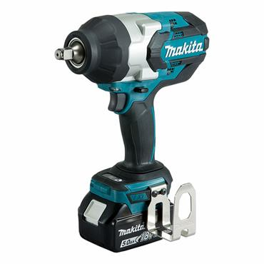 "Makita DTW1002RTJ 18 Volt Brushless 1/2"" Impact Wrench, 2 x 5.0 Ah Batteries"