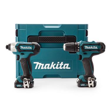 Makita CLX201AJ 10.8 Volt 2 Piece Cordless Kit, 2 x 2.0Ah Batteries