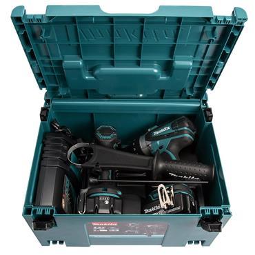 Makita DLX2145TJ 18 Volt Cordless Twin Kit, 2 x 5.0Ah Batteries