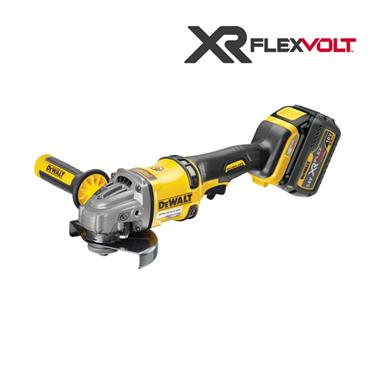DeWALT DCG414T2 125mm 54 Volt XR Flexvolt Angle Grinder Kit, 2 x 6.0 Ah Batteries