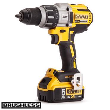 DeWALT DCD991P2 18 Volt Brushless 3-Speed Drill Driver, 2 x 5.0Ah Batteries