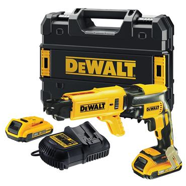 DeWALT DCF620P2K 18 Volt Brushless Collated Screwdriver Kit, 2 x 5.0Ah Batteries