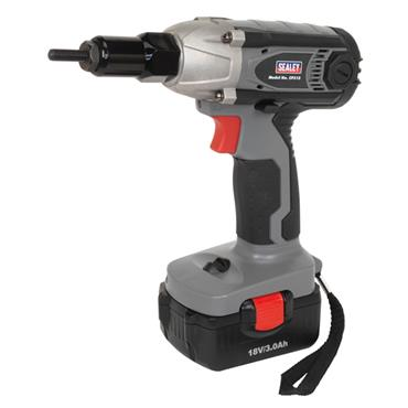 SEALEY CP315 Cordless Nut Riveter/Impact Driver 18V 3Ah Lithium-ion 1hr Charger