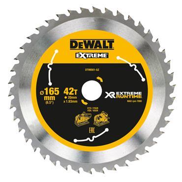 DeWALT 165 x 20 x 42T, Extreme Runtime Saw Blade - DT99561