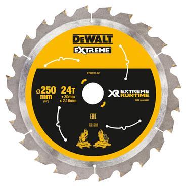 DeWALT 250 x 30 x 24T, Extreme Runtime Saw Blade - DT99571