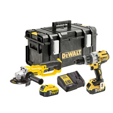 DeWALT DCK278P2 18 Volt Li-Ion XR Twin Pack, 2 x 5.0Ah Batteries