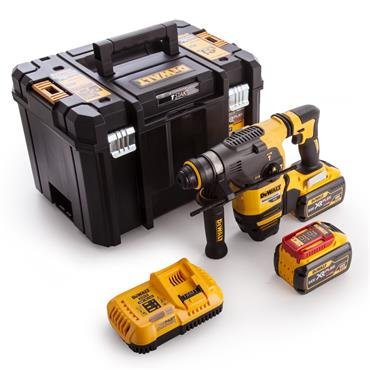 DeWALT DCH333X2 18/54 Volt Brushless Flexvolt 3-Mode SDS Plus Hammer Drill, 2 x 9.0Ah Batteries