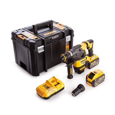 DeWALT DCH334X2 18/54 Volt Flexvolt 3-Mode Quick Change Chuck with Hammer Drill, 2 x 9.0Ah Batteries