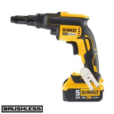 DeWALT DCF622P2 18 Volt Brushless Self-Drilling Screwdriver Kit, 2 x 5.0Ah Batteries