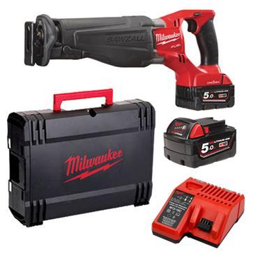 Milwaukee M18ONESX-502X 18 Volt One-Key Fuel Sawzall, 2 x 5.0Ah Batteries