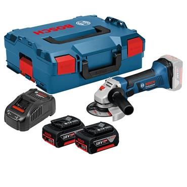 Bosch GWS 18-125 V-LI Professional 125mm Cordless Angle Grinder 2 x 5.0Ah Batteries