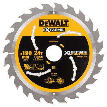 DeWALT 190 x 30 x 24T, Extreme Runtime Circular Saw Blade - DT99562-QZ