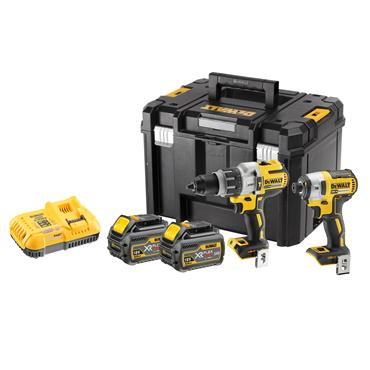 DeWALT DCK276T2T 18 Volt Combi Drill and Impact Driver Kit Twin Pack, 2 x 6.0Ah Batteries