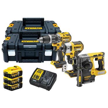 DeWALT DCK368P3T 18 Volt XR Triple Kit, 3 x 5.0Ah Batteries