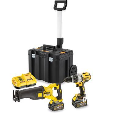 DeWALT DCK2057T2T 18 Volt Drill Driver and 54 Volt XR Reciprocating Saw Kit, 2 x 6.0Ah Batteries