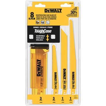 DeWALT DWA4894 8 Piece Reciprocating Saw Blade Set