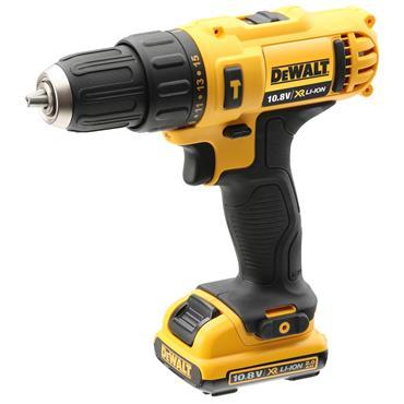 DeWALT DCD716D2 10.8 Volt XR Sub-Compact Hammer Drill, 2 x 2.0Ah Batteries