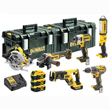 DeWALT DCK623P3 18 Volt 6 Piece XR Brushless Compact Kit, 3 x 5.0Ah Batteries